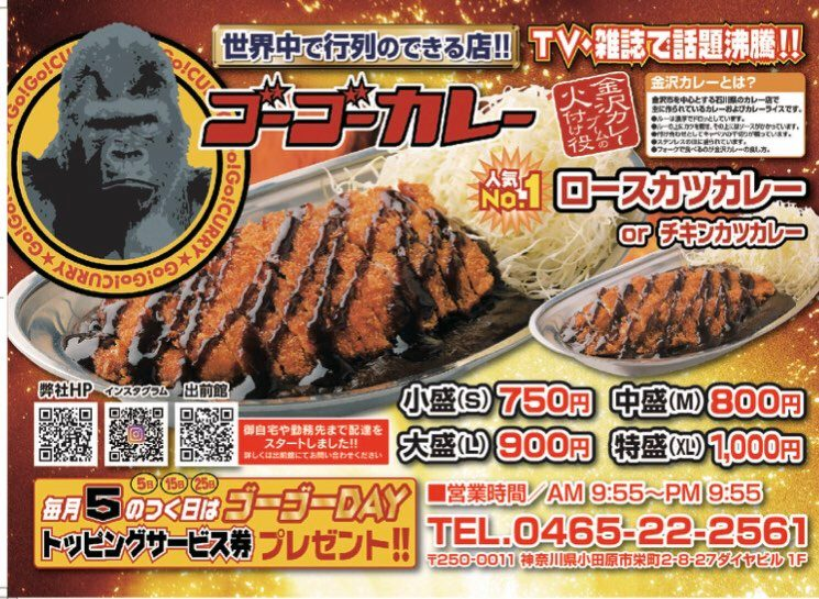 ゴーゴーカレー小田原中央通店